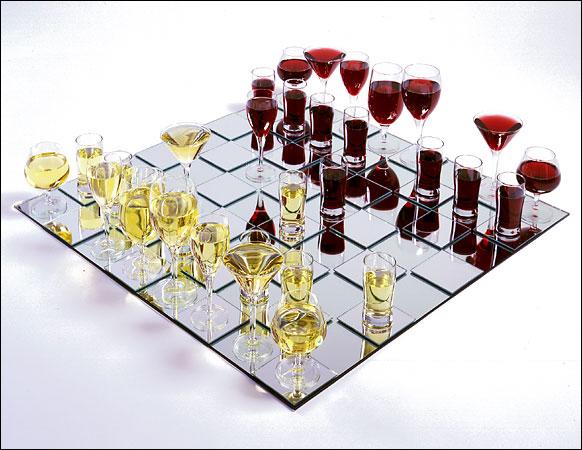 Wine-Chess-Set